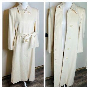 Vintage Custom Wool Blend Coat Long with Tie
